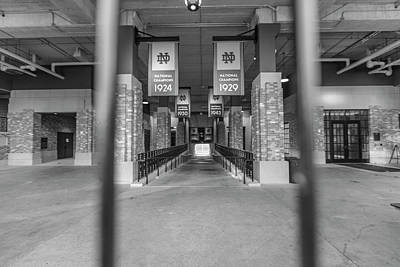 Photograph - Notre Dame Football Stadium Through The Fence by John McGraw