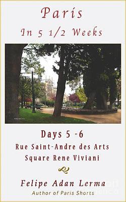 Paris Photograph - Notre Dame From Square Rene Viviani Cover Art by Felipe Adan Lerma