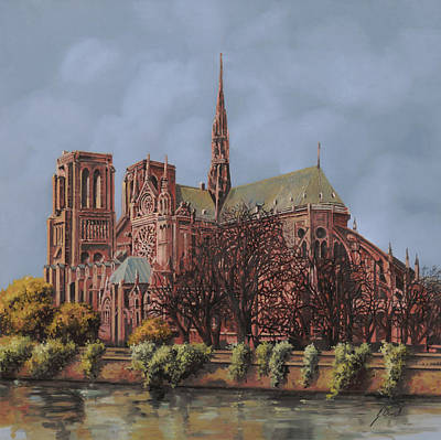 Universities Painting - Notre-dame by Guido Borelli