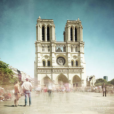 Print featuring the photograph Notre Dame by Hannes Cmarits