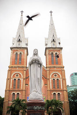 Photograph - Notre Dame Ho Chi Minh City by For Ninety One Days