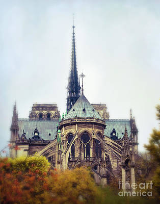Notre Dame In Fall Art Print