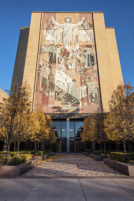 Photograph - Notre Dame Library  by John McGraw