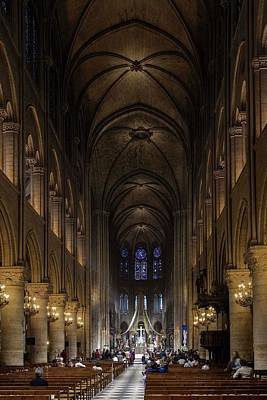 Photograph - Notre Dame On The Inside - 1 by Hany J