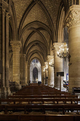 Photograph - Notre Dame On The Inside - 2 by Hany J