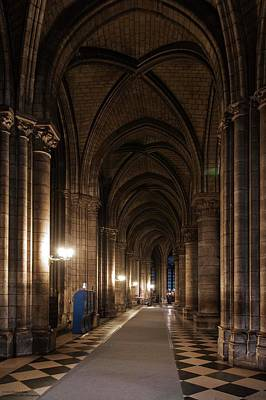 Photograph - Notre Dame On The Inside - 3 by Hany J