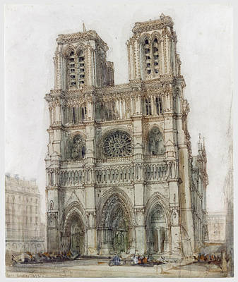 Notre Dame Drawing - Notre Dame Paris by David Roberts