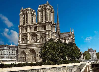 Photograph - Notre Dame Paris France - Remastered by Carlos Diaz