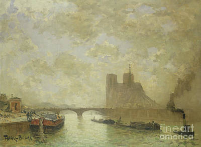 Notre Dame Cathedral Painting - Notre Dame, Paris by Frank Myers Boggs
