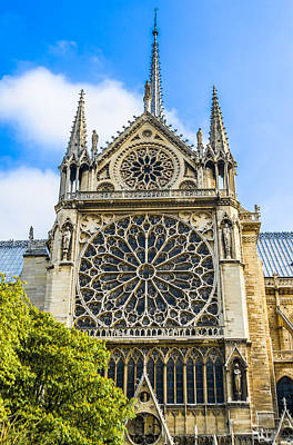 Photograph - Notre Dame Cathedral Paris, Northern Facade. by Nila Newsom