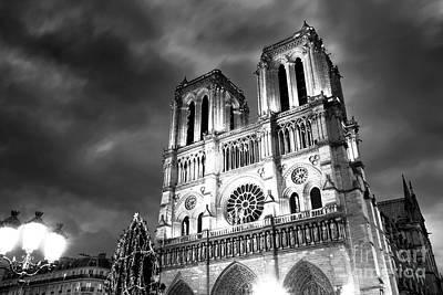 Photograph - Notre Dame Portrait by John Rizzuto