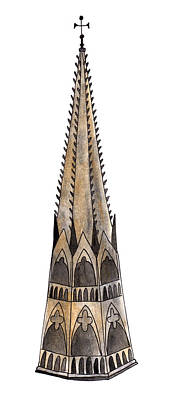 Painting - Notre Dame Spire by Anna Elkins