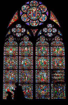 Photograph - Notre Dame Stained Glass And Silhouette by Jenny Setchell