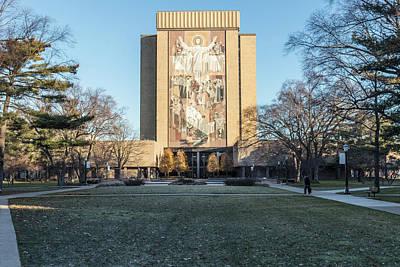 Photograph - Notre Dame Touchdown Jesus  by John McGraw