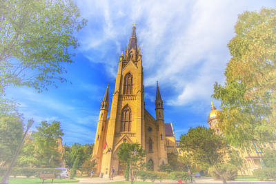 Notre Dame University 5 Art Print by David Haskett