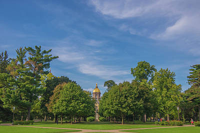 Photograph - Notre Dame University 6 by David Haskett II