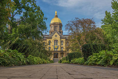 Notre Dame University Q Art Print by David Haskett