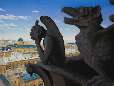 Painting - Notre Dame View by Christopher Reid