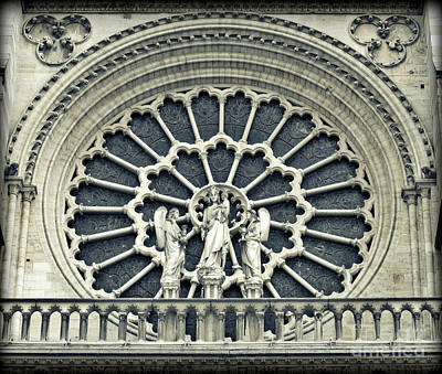 Photograph - Notre Dame Window Hdr by Carol Groenen
