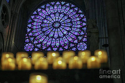 Photograph - Notre Dame With Candles by Patricia Hofmeester