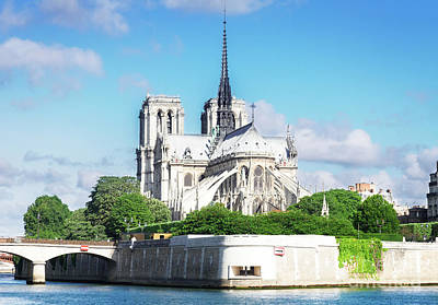 Photograph - Notre Dame Over Water by Anastasy Yarmolovich