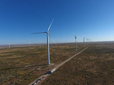 Chris Martin Photograph - Notrees Wind Farm by Chris Martin