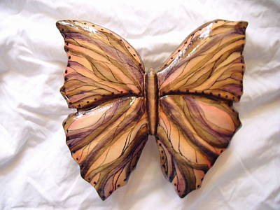 Dryriver Relief - Noura Wooden Butterfly by Lisa Ruggiero