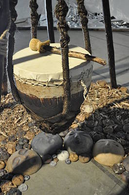 Sculpture - Nourishing Drum Closeup by Kristen R Kennedy