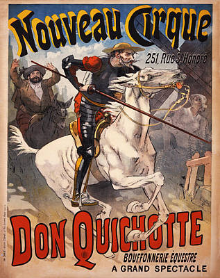 Don Quixote Digital Art - Nouveau Cirque - Don Quichotte by Bill Cannon