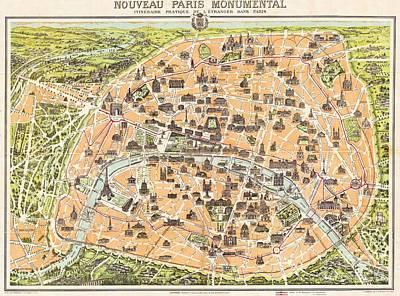 Nouveau Paris Monumental Art Print by Pg Reproductions