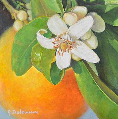 Painting - Nouvelle Orange by Muriel Dolemieux