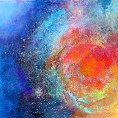 Painting - Fantasies In Space Series Painting. Nova Concerto. Acrylic Painting. by Robert Birkenes