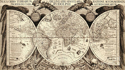 Imperial Drawing - Nova Orbis Terrarum by German School