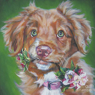 Nova Scotia Wall Art - Painting - Nova Scotia Duck Tolling Retriever Puppy by Lee Ann Shepard