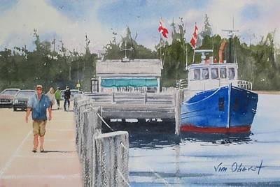 Oberst Painting - Nova Scotia Pier by Jim Oberst