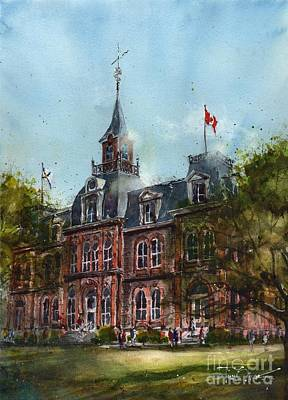 Nova Scotia Wall Art - Painting - Nova Scotia Provincial Normal School by Tim Oliver