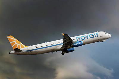 Novair Airbus A321-231 Art Print