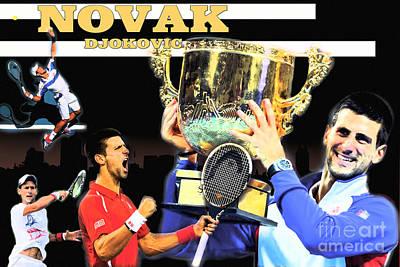 Novak Print by Christopher Finnicum