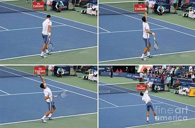Novak Djokovic Print by Anthony Djordjevic