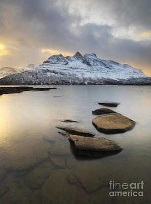 Novatinden Mountain And Skoddeberg Lake Art Print