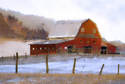 Ron Jones Photograph - November Barn by Ron Jones