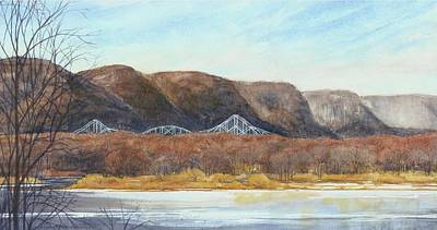 Painting - November Bridge by Phyllis Martino