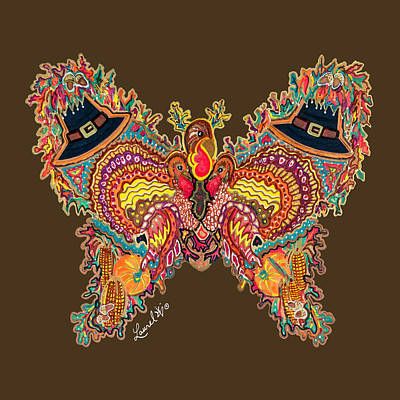 Painting - November Butterfly by Laurel Rosenberg