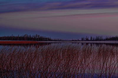 Photograph - November Clouds Over Thunder Lake by Dale Kauzlaric