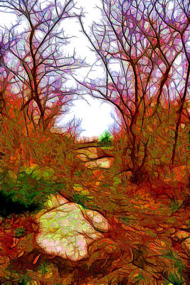 Impressionism Digital Art - November Fantasy by Lilia D