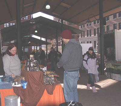 November Farmers Market Lowertown Art Print by Janis Beauchamp