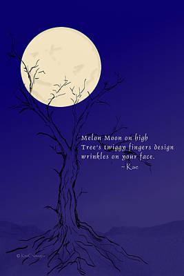 Digital Art - November Haiku With Drawing by Kae Cheatham