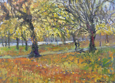 Park Scene Painting - November In Hyde Park by Patricia Espir