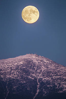 Photograph - November Moon Over Washington by Chris Whiton