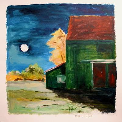 Art Print featuring the painting November Moon Rising by John Williams